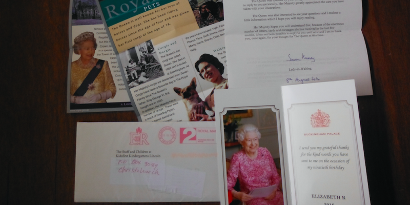 Letter from the queen kidsfirst lincolns new year started with the arrival of a very special card and letter from her majesty queen elizabeth in response to a birthday card bookmarktalkfo Choice Image